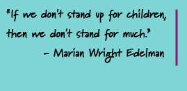 Standing up for children quote