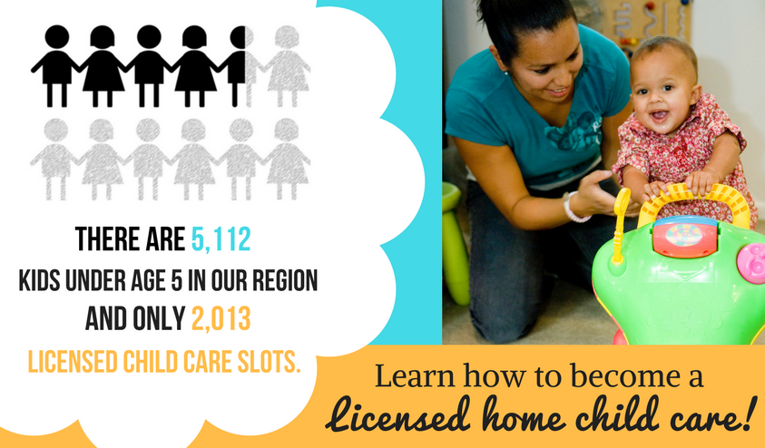 Become a Licensed Child Care Provider in your home!