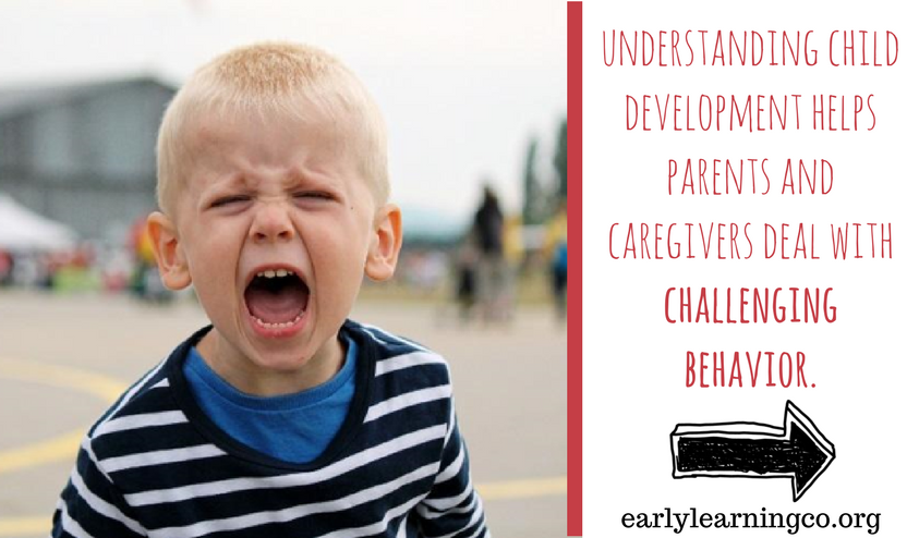 understanding child development helps parents and caregivers deal with challenging behavior. When parents know what to expect from each stage of development