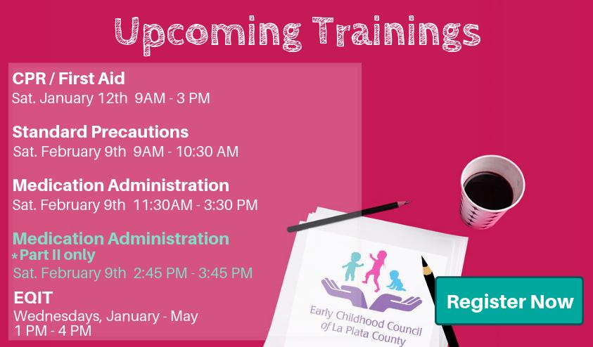 Upcoming Training 2019