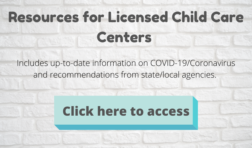 Resources for Licensed Child Care Centers banner